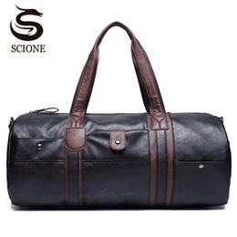 Wholesale Travelling Leather Suitcase - PU Leather Men's Travel Bags Casual Shoulder Bag Brand Men Messenger Bag Handbag Tote Travel Duffle Bags Vintage Sac De Voyage