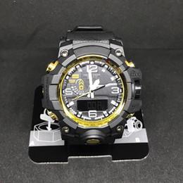 2019 gwg1000 ударные часы g style мужские спортивные наручные часы водонепроницаемые светодиодные дисплеи студента за дверью военные часы черный ремешок оптом supplier black military watches от Поставщики черные военные часы