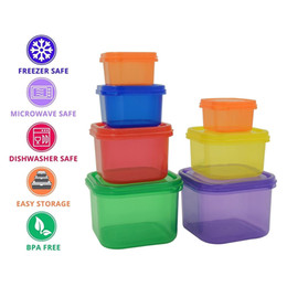 Wholesale use storage - Portion Control Containers 7pcs preservation box kit Easy Way To Lose Weight Using fitness workout Food Storage Plastic Container BBA317