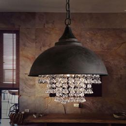 luz de teto pendente cool Desconto Vintage Industrial Celeiro Náutico Luz Pingente De Metal de cristal lâmpada pendurada 1-luzes Pingente de Iluminação Lustre