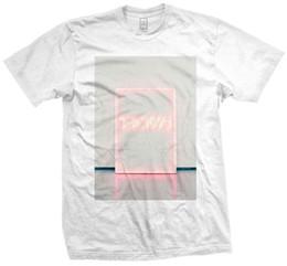 Homens neon camisa on-line-O Sinal de Néon 1975 T-Shirt Branco Oficial Dos Homens Unisex Música Rock Band Merch Tee 100% Algodão T-Shirts Para O Homem top tee