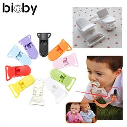Wholesale Green Products Kids - Baby Kids T-shape Plastic Pacifier Clips Soother 10Pcs Lot Dummy Style Badge Holder Portable Baby Care Products Supplies