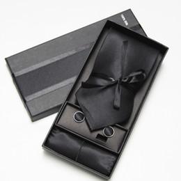 Wholesale Tie Cufflinks Handkerchief Set - mens tie and handkerchief set men ties sets cufflinks hanky pocket square