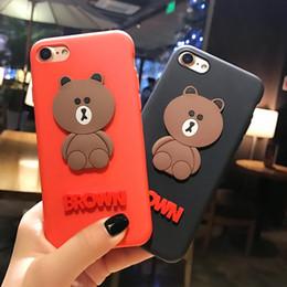 Silikonkoffer teddy online-Neue nette Karikatur-Teddybär-weiche Silikon-Telefon-Kasten-Rückseiten-Abdeckungs-Shells 3D für iPhone 6 6s 7 7Plus