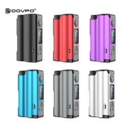 Cigarrillo electronico dovpo online-Dovpo Topside 90W Top Llenado Squonk Mod 10 ml Desarrollado por una sola batería Desvío Modo de control de temperatura 100% Mod.