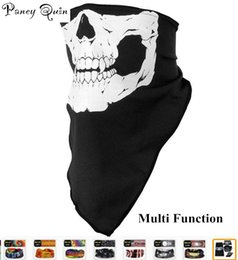 Wholesale Green Face Scary Halloween - Halloween Skull Skeleton Party magic scarf Multi Function Bandana Face Mask Neck Headwear Hat Scarf Neck Scary wholesale