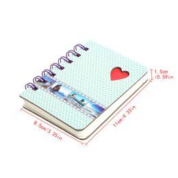 livro em capa dura Desconto 1 x Notebook Portátil Capa Dura Coil Note Book Diário Diário Notepad Memo Notebook Página Em Branco Enviada Em Aleatória