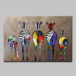 hand painted oil paintings Promo Codes - Mintura Oil Painting with 100% hand painted on canvas for livingroom - Animals Pop Art Modern Canvas 4 size