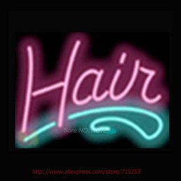 Wholesale Beer Advertising Signs - Hair Salon Shop Neon Signs For Home Neon Bulbs Real Glass Beer Handcrafted Advertise Bulb Light Pub Bar Signs 17x14