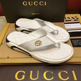3f8fd067d5e43 2019 flache sandalen flip flop Männer Sandalen Designer Schuhe Luxus Slide  Sommer Mode breit flach rutschig