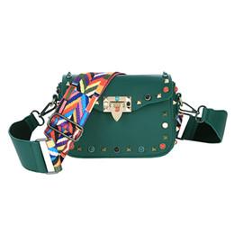 2019 women wide shoulder strap rivets skew shoulder bags for women belts  Crossbody Messenger bags Bolsa Feminina 826ef0cd9771f