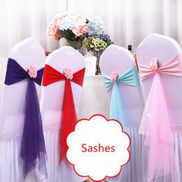 Individuelle blumen online-Ausgefallene Hochzeitsschärpen für die Dekoration Elastische Bänder aus Polyester und Gaze mit individueller künstlicher Blume