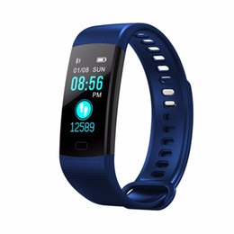 gold blood Coupons - Y5 Smart Watch Smart Band Blood Pressure Real-time Heart Rate Monitor Pedometer Watch Vibrating Alarm Clock