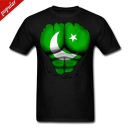 Maglietta degli uomini di bandiera Pakistan Strappato Muscoli 2018 Nuova Maglietta degli uomini di cotone puro manica corta Hip Hop Moda Uomo T Shirt da