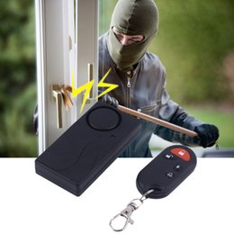 fern-portable alarm Rabatt TS-850 Wireless Remote Control Vibrationsalarm Tragbare Größe Anti-Interferenz Home Security Tür Fenster Anti-Diebstahl-Alarm-Set