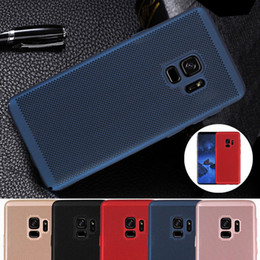 Wholesale Apple Dot - Ultra Thin Slim Mesh Hard PC Case For Samsung Galaxy S9 Plus A8 2018 J2 Pro J7 Huawei Y6 Breathable dot Back Cover