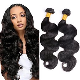 Wholesale Virgin Hair Weave Sale - Body Wave Wet And Wavy Human Hair 4 Bundles Lot Natural Black Cheap Virgin Hair Brazilian Malaysian Indian Peruvian Human Hair Sale