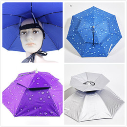 Wholesale Hat Heat - Creative Adjustable Double Windproof Outdoor Anti UV Head Wearing Sunshade Umbrella Hat Fishing Hat Ventilation And Heat Dissipation