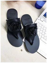 Wholesale fringe heels - top Quality Women leather Slide Sandals,Hardware detail on Fold over fringe,Size 35-41 free shipping