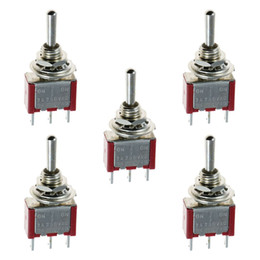 Wholesale off momentary - 5 x Mini Momentary (On)Off(On) Toggle Switch Model Railway SPDT 12V,silver