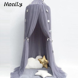 Wholesale Princess Kids Bedding - 1pc Circular Kids Princess Valance Canopy Mosquito Net Children's Baby Bed Room Folding Mosquito Net Domes Decor Protective Tent
