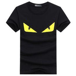 Canada FEND Marque Designer Shirt Manches Courtes D'été T Shirt De Luxe Marque Yeux Imprimer En Gros Hommes Tee Plus La Taille S-5XL cheap eye print shirt Offre