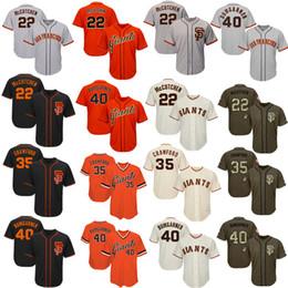 Wholesale andrew mccutchen jersey - Men Women Youth Giants Jerseys 22 McCutchen 35 Crawford 40 Bumgarner Jersey Baseball Jersey Black Cream Grey Gray Orange Salute to Service