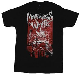 mens knifes Promo Codes - Motionless in White Mens T-Shirt - Haunted House Knife Stab Image Classic Quality High t-shirt