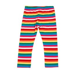 Wholesale Thin Striped Leggings - Children's wear girls, spring and summer, new style underwear, children's thin section, rainbow, seven points, bottom pants.