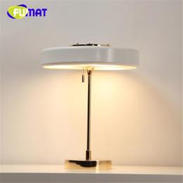 Wholesale Modern Wedges - FUMAT White   Black   Blue Post - modern House Table Lamp Master Bedroom Light Study Light Simple Bed Light Free Shipping