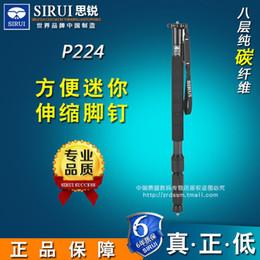 2019 professionelles einbeinstativ Sirui P-224 Monopod Professionelle Carbon Fiber Tragbaren Stativ 4 Abschnitt Tragetasche Max Belastung 10 kg DHL günstig professionelles einbeinstativ