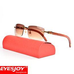 Wholesale wood frame for men - Luxury Classic Frame Sunglasses Fashion Brand Designer Sunglasses Wood Prescription glasses Sunglasses for men with Original Box CT3524012