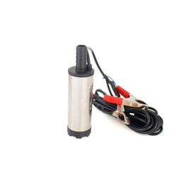 Canada Pompe submersible électrique 12V 24V CC pour pomper de l'eau diesel, pompe de transfert de carburant, réservoir en acier inoxydable, 12L / min, 12 24 V volts Offre