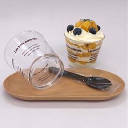 tazze di plastica Sconti Teiere in plastica per torte al teppino con coperchio a forma di cupola con cucchiai di zucchero per dolci fatti in casa