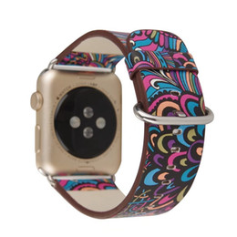 Wholesale Chinese Paintings For Decoration - uomo\heren unisex retro multicolor decoration Chinese Ethnic 42mm watch band oriental painting leather orologio\riem strap for dame\donna