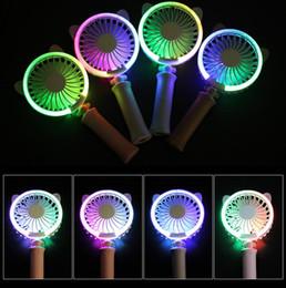 4 Couleurs USB De Poche Tactile Chat Ventilateur Électrique Puissance Bureau Coloré Nuit Lumière Ventilateur Mini Air Refroidisseur AAA242 ? partir de fabricateur