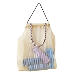 Sacchetto di immagazzinaggio appeso Sacchetti di corda pieghevoli riutilizzabili della maglia Sacchetti della corda Organizzatore di verdure della frutta per la cucina domestica da