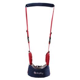 Wholesale harness backpacks - Baby Adjustable Walker Assistant Toddler Cotton Backpack Stick Kids Walking Learning Belt Children Safety Harnesses Leashes Gift