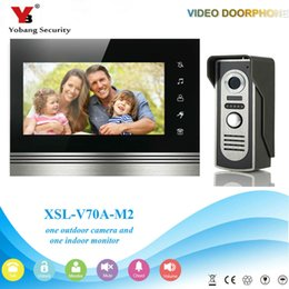 "lcd security system Promo Codes - YobangSecurity Wired 7""inch LCD Color Video Door Phone Intercom Doorbell 1 Camera 1 Monitor Access Control Security Entry System"
