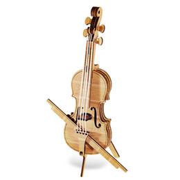 Инструмент для фортепиано онлайн-Образовательные игрушки Woodcraft Ассамблеи Kit 3D Скрипка деревянные головоломки стереоскопический деревянный Фортепиано Скрипка инструменты игрушки обучения развивающие игрушки