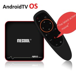 Wholesale os android pc - Mecool M8S Pro W Android 7.1 Smart TV Box Google Voice Control TV Box Amlogic S905W Quad Core 2G 16GB AndroidTV OS 4K Mini PC Wifi Stalker