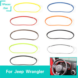 accessories for jeep Promo Codes - Car Dashboard Decoration Rings Stickers For Jeep Wrangler 2011-2017 Factory Outlet High Quatlity Auto Interior Accessories