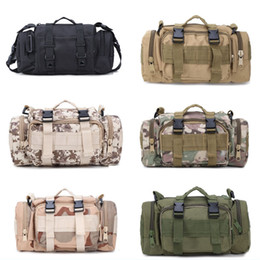 Wholesale utility waist pack - Tactical Waist Pack Military 3P Waterproof Packs Utility Pouch Crossbody With Shoulder Strap Hand Carry Support FBA Drop Shipping G579F