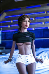 Wholesale Entity Dolls - 165CM BLACK full silicone entity doll,realistic human mannequin sex robot doll,big breast,lifelike tongue,teeth,metal skeleton