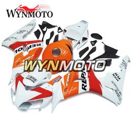 2019 cbr verkleidung weiß orange Weiße orange Motorrad-Einspritzungs-volle Verkleidungen für Honda CBR1000RR 2006 2007 CBR 1000RR 06 07 ABS Plastikverkleidung Kit Repsol Cowlings Rumpf rabatt cbr verkleidung weiß orange