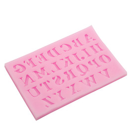 Wholesale Silicone Alphabet Letter - Hot Sale 1Piece Charm Letter Alphabet Silicone Cake Mold Cake Fondant Baking Decor Mould Tool