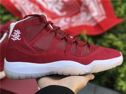 Wholesale Knots Men Women - Free Shipping 2018 Air 11 Chinese Lunar New Year Basketball Shoes Air 11s Wishing You Prosperity Sneakers Come with Box and Chinese Knot
