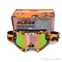 Wholesale dh mtb - KTM brand Motocross goggles ATV DH MTB Dirt Bike Glasses Oculos Antiparras Gafas motocross Sunglasses Use For Motorcycle Helmet