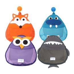 Wholesale bag hook for wall - Storage Bag For Baby Bathe Cartoon Style Belt Hook Waterproof Soft Texture Shower Room Hanging Bags Popular 21zs V