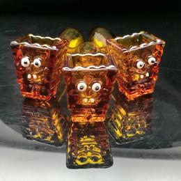 Wholesale glass chimneys - Amber glass chimney pipe Wholesale Glass Hookah, Glass Water Pipe Fittings, Free Shipping